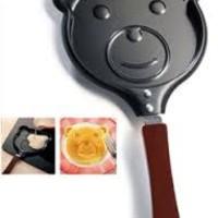 Teflon Karakter Teddy Bear Beruang Frying Pan Alat Dapur Chef Anak Art