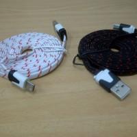 harga Kabel Charger / Powerbank Tali Sepatu 3 meter Micro USB (BB / Samsung) Tokopedia.com