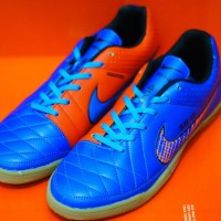 Sepatu Futsal NIKE TIEMPO LEGACY BIRU ORANGE   Grosir Jejualan Produk