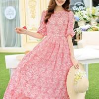 harga Long Dress Pink Chiffon Silk Gaun Panjang Wanita Merah Muda Importbaju Tokopedia.com