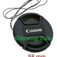 Lens Cap Canon(Tutup lensa Canon) 58mm