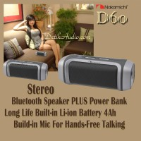 Power Bank Sekaligus Stereo Bluetooth Speaker Nakamichi D60 Japan