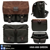 Tas Kamera / Messenger Camera Bag / Sling bag HONX 008 GREEN
