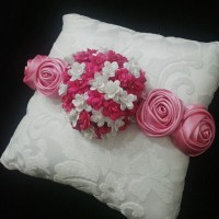 bantal kotak cincin boneka wedding ring pillow bantalan putih 4412