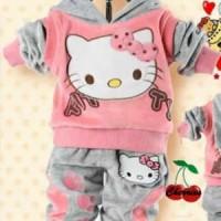 harga Baju Anak Helkit Doll, Atasan Hoodie + Celana Panjang Tokopedia.com