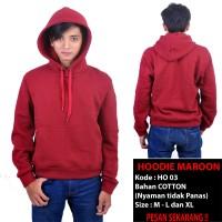 Hoodie Cotton Maroon