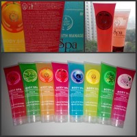 BODY SHOP SPA EXFOLIATING GEL - BODY SHOP PEELING