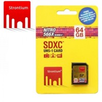 Strontium 64GB SDXC UHS-1 NITRO 566X CARD (Up To 85mbps)