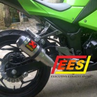 Knalpot Akrapovic Gp titan Full System for R25, Ninja 250, CBR 250