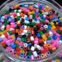 5mm HAMA Beads / Perler Beads, product of Ikea, mixed colour, 300 pcs