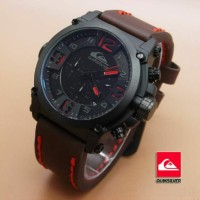 JAM TANGAN QUIKSILVER CHRONO LEATHER JM546-BROWN RED