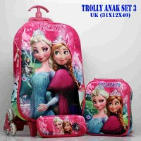 harga Tas Trolly Anak 3d 3 In 1 Frozen Tokopedia.com