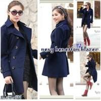 Blue Benetton N Fleece Blazer
