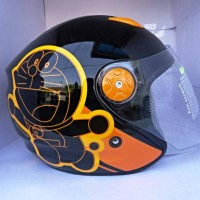 harga helm bmc doraemon black orange Tokopedia.com
