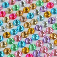 Lembaran Stiker Dekorasi Kristal Plastik (3mm)