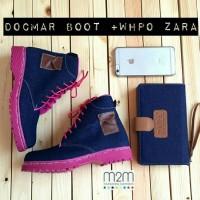 paket sandal sepatu boots wanita denim levis