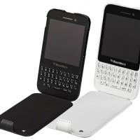 Case  |  Blackberry Leather Flip Shell Q5 Original