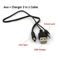 Kabel Mini USB To USB + Audio Jack 3.5mm / Kabel Charger & Audio