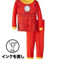 Grosiran Baju Anak Laki-laki Import Branded Piyama I-ron Man (kids)
