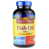 Nature Made Fish Oil Menyehatkan Rambut, Kulit, Mata, Otak, Jantung & Pembuluh Darah.