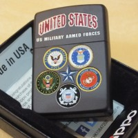 Zippo US Armed Forces Black