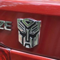 Jual Emblem Mobil Metalik Motif Transformer (Bahan Logam) Murah
