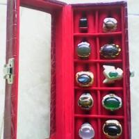 paket koleksi cincin aneka jenis halus batu natural random