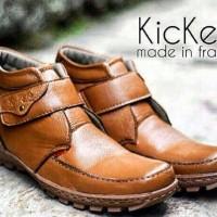 harga sepatu boots kickers prepet brown original kulit 100% Tokopedia.com