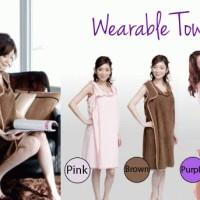 1 kg 4 pcs Wearable Towel Baju Handuk Kamar Mandi Fashion Bath Travel