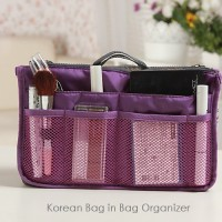 Korean Bag in Bag Organizer PURPLE (Gonta ganti tas jadi mudah)