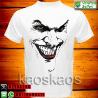 harga Kaos The Dark Knight Joker Terrifying Black White Face Tokopedia.com