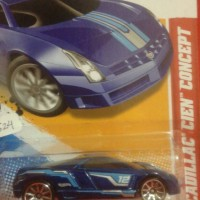 hot wheels cadillac cien concept blue