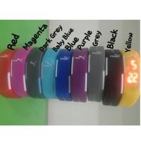 Jam Tangan LED - Jam tangan sporty Cowok cewek (Adidas, Puma, Nike)