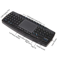 Jual Mini Wireless Keyboard Mouse Presenter Combo + Touch pad + Laser Point Murah