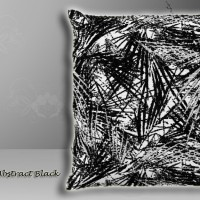 Bantal Sofa Ekspor Abstract Modern Design Black 40x40cm