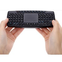 Jual Ultra Mini Wireless Keyboard Mouse Presenter Combo + Touchpad + Laser Murah