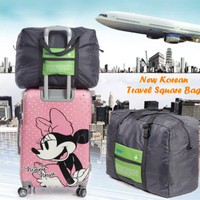Jual New Korean Travel Square Bag (Bisa diselip ke gagang trolley bag) Murah