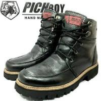 Sepatu Pichboy Boot Boots Touring Motor Advanture Hitam Black