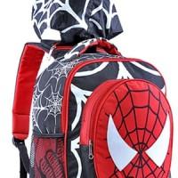 Jual Tas Sekolah Anak / Tas Anak Laki Laki Motif Spiderman Bertopi GYN 4633 Murah
