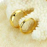 Cincin Couple Titanium Gold