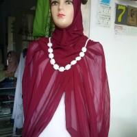 jilbab instan maulina warna merah hati