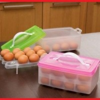 kotak telur telor penyimpanan box pembawa 24 butir egg tray