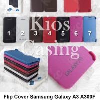 Samsung Galaxy A3 A300f - Flip Cover Case Casing Sarung Hardcase