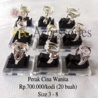 harga Grosir Ring / Emban Cincin Wanita Perak Malaysia / Cina Tokopedia.com