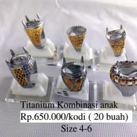 Grosir Ring / Emban Cincin Titanium Remaja / anak-anak