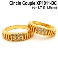 harga XP1011-DC Cincin Couple Pasangan Perhiasan Lapis Emas Gold Tokopedia.com