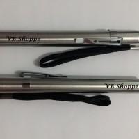 senter batu akik / batu cincin model pen + batere + tali + clip