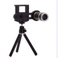 Universal Lensa TeleZoom 8x Clip Lipat + tripod untuk semua smartphone