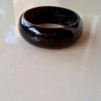 Ring Cincin Natural Black Jade Grade A aceh + kotak cincin