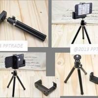 mini tripod like monopod + holder L untuk camera kamera digital dan hp